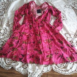 Zara floral print long sleeves dress
